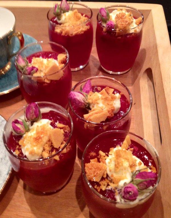 rose water jellies